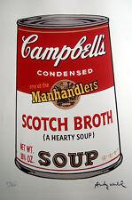 ANDY WARHOL -Campbell´s Soup - 76x56 cm  .Edicion 50 ejemp. COA