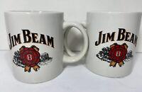 Pair Of Matching JIM BEAN COFFEE MUGs EUC