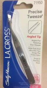 La Cross by Sally Hansen Precise-Tweeze Tweezers Angled Tip # 71950 NEW + SEALED