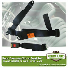 Rear Static Seat Belt For Volvo 760 Saloon 1983-1992 Black