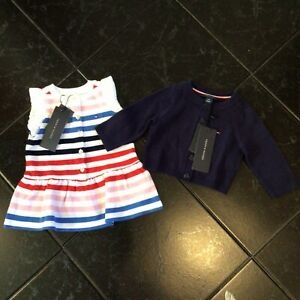 BN W/Tags 2pc. Lot Of Baby Girls Outfit By Tommy Hilfiger 3-6 M