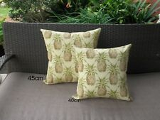 Outdoor Tropical Pineapple Yellow Green Brown Cushion Cover 40/45cm Au Made