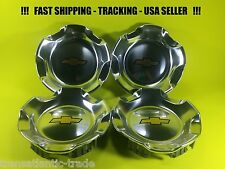 "4 Center Caps For Chevrolet BRUSHED  20"" Wheels Tahoe Silverado OEM 9597686 USA"