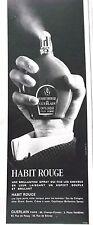 publicité- PARFUM  CAPILLAQUE  HABIT ROUGE de GUERLAIN  - 1966- REF.6807