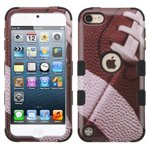 iPod Touch 5th 6th & 7th Gen - Football Armor Hybrid High Impact Skin Case Cover