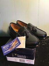 Black Loafers Soft Flex French Shriner Mens Size 10 Shoes Buchanan New In Box