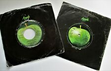 PAUL McCARTNEY & WINGS BAND ON THE RUN & ANOTHER DAY  2  APPLE SINGLES +SLEEVES
