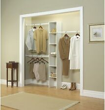 Closet Wardrobe Bedroom Kit 12 In Storage Rack White Custom Organizer Clothing