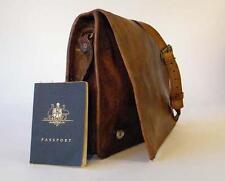 """Handmade Goat Leather 11"""" Shoulder Flap iPad Satchel Bag FS/R Billy Goat Designs"""