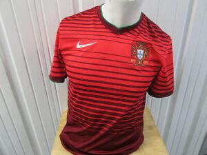 VINTAGE NIKE PORTUGAL NATIONAL FOOTBALL MENS TEAM SMALL SEWN JERSEY 2014/16 KIT