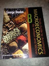 GEORGE BREDON, GUIDE TO ACCOMPANY MACROECONOMICS 8 BY JACKSON AND MCIVER