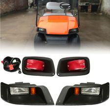 For EZGO TXT Golf Cart Halogen Headlights & LED Tail Lights Adjustable Beam Kit