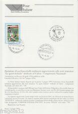 ITALIA 1995 - SCUDETTO CALCIO FOOTBALL JUVENTUS - BOLLETTINO 16 CON ANNULLO FDC