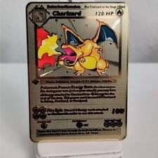 1st Edition Base Set Charizard Metal Gold Pokemon Card