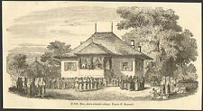 ROUMANIE ROMANIA HORA DANSE DANCE VALACHIE GRAVURE 1849 ENGRAVING