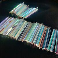 Defective Long Prism Optical Glass Physics Decorative Prism for DIY 10 pcs