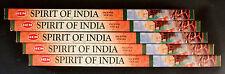 40 Sticks 5 x 8g Boxes SPIRIT OF INDIA Scent Fragrance Incense Insence Bulk HEM