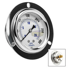 "2.5"" Liquid Filled Pressure Gauge 0-300 PSI 1/4"" NPT CBM Panel Flush Mount"