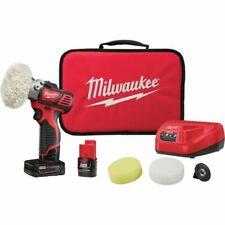 New Milwaukee 2438-22X M12 Variable Speed Polisher Sander 2 Battery Kit 12V