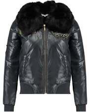 Faux Fur Waist Length Bomber Coats & Jackets for Women