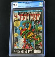 Invincible Iron Man #50 (1972) 💥 CGC 9.8 💥 HIGHEST - 1 of 16! Princess Python