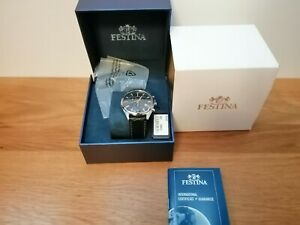Festina Mens Chronograph Quartz Watch with Leather Strap F6860/7