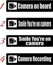 Advertencia sonrisa su cámara en Ventana de Coche Pegatina-VAN-Barco-Bike Body Panel 3