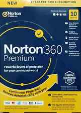 NORTON 360 PREMIUM  10 Devices 1Year NEW