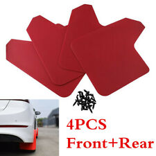 4Pcs Red Universal Car SUV Moulding Mudflaps Splash Guards Fender Accessories