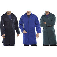 Click Polycotton Lab Warehouse Coat Overall Work Smock Navy Royal Blue Green New