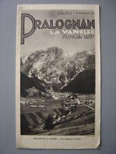 Ancien dépliant touristique  Guide de PRALOGNAN LA VANOISE  Pralognan-la-Vanoise