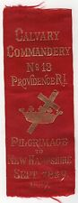 1887 KNIGHTS TEMPLAR Ribbon PROVIDENCE RHODE ISLAND New Hampshire CALVARY NH RI