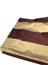 """2 Rodeo Home Luxury Curtains Pair Panels Drapes Burgundy Red & Gold Stripe 90"""""""