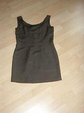 Street One Damen Kleid Gr.36 braun ärmellos Leinengemisch