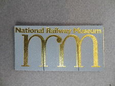 Vintage BOOKMARK LEATHER National Railway Museum York Grey Bookmarker