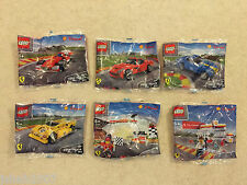Shell Lego Ferrari Toy Model Cars Set Of 6 NEW 40190-40195 **LOOK**