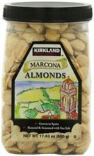 Kirkland Marcona Almonds, Roasted and Seasoned with Sea Salt, 17.63 Ounce - 2Pk