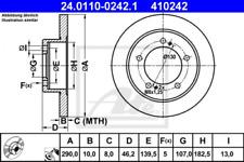 2x Bremsscheibe für Bremsanlage Vorderachse ATE 24.0110-0242.1