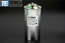 TEMCo 60+5 uf/MFD 370-440 VAC volts Round Dual Run Capacitor 50/60 Hz -Lot-1
