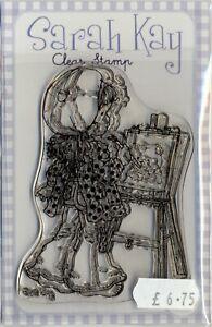 Sarah Kay - Clear Stamp - Margaux is Painting - SAKJEUSK7B