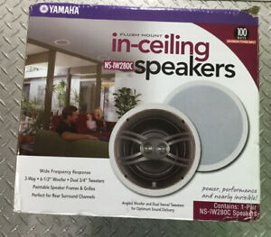 Yamaha NS-IW280C Main / Stereo Speakers, Flush Mounting In-Ceiling Speakers