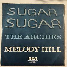 """Archies-SUGAR SUGAR/Melody Hill, RCA 63-1008, Ger., 7"""" single EX/EX"""
