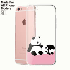 Panda TPU Phone Case for iPhone 8 8 plus X 7 7+ 6 6s Galaxy S8 S7 edge Note 8