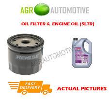 PETROL OIL FILTER + FS 5W30 ENGINE OIL FOR FORD FIESTA 1.4 80 BHP 2001-08
