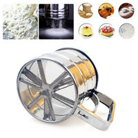 Stainless Steel Shaker Sieve Cup Crank Sugar Flour Sifter with Measuring Scale