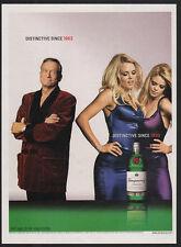 2002 TANQUERAY London Dry Gin - HUGH HEFFNER & SEXY PLAYBOY BUNNIES VINTAGE AD