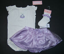 NWT Gymboree Castle Princess 18-24 Kiss Me Frog Bodysuit Socks Satin Tutu Skirt