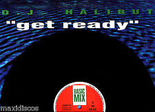 "12"" - D.J. HALIBUT - GET READY (TECHNO) SPANISH EDIT. 1985 VG+ OYELO - LISTEN"