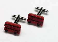 London Red Double Decker Bus Cuff Links New in Cufflinks gift Box 7072