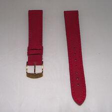 Cinturino pelle stampa lucertola colore rosso ansa 18 fibbia dorata b163A4